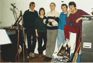 1985_Stage groepsfoto met Ilse (1)