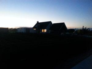 Nieuiwe huis van Hans en Lucia met de bijbehorende nieuwe Studio