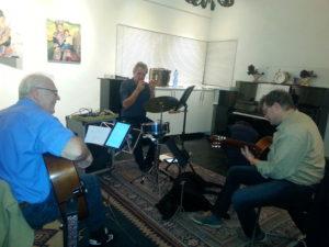 Met zijn allen in de nieuwe studio Vinkeveen. December 2016